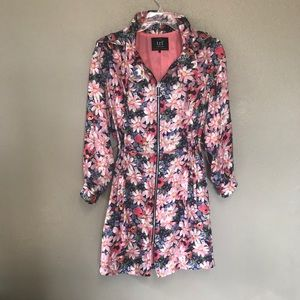 Zara Trf Collection floral lightweight trenchcoat